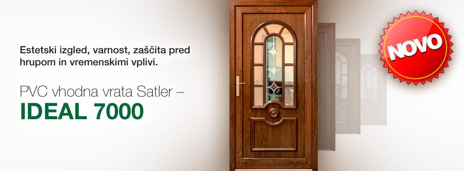 Nova PVC vhodna vrata IDEAL 7000