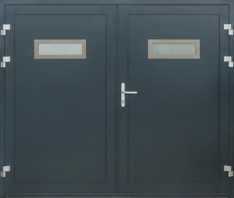 ... satler ALU vhodna vrata - ALU garažna vrata & HEROAL D 72