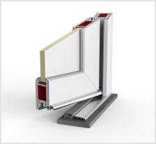 Satler PVC vhodna vrata IDEAL 7000